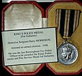 Kings Police Medal (for gallantry) Detective Sergeant Harry Morrison - arrested an armed criminal 1948 (13225380165).jpg