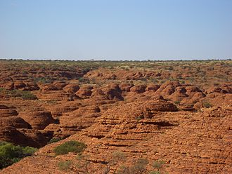 Kings Canyon (Northern Territory) - View of the sandstone domes at Kings Canyon.