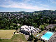Kite aerial photo of Stroud Leisure Centre