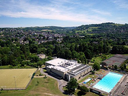 Kite aerial photo of Stroud Leisure Centre Kite aerial photo of Stroud Leisure Centre.JPG