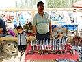Knife salesman. Kashgar markets. 2011.jpg
