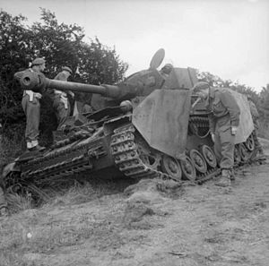Knocked out German Mk IV tank