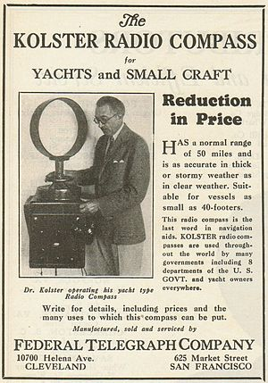 Maritime radionavigation service -  Radionavigation  mobile station (RDF) 1930