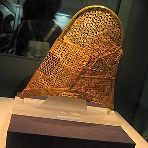 Crowns of Silla - A golden inner cap of a Silla crown from the sixth century.