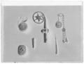 Kräkla av förgylld koppar med enkel punsad och stämplad dekor - Skoklosters slott - 273-negative.tif