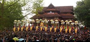 Thrissur Pooram - Image: Kudamatom at thrissur pooram 2013 7618