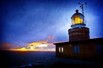 Kullaberg - The lighthouse Kullens fyr at the tip of Kullaberg
