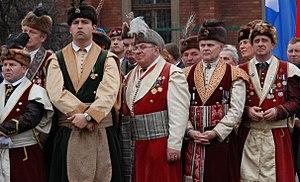 Fraternity - Kraków's Kur Fraternity during the inauguration of Józef Piłsudski Monument in Kraków.