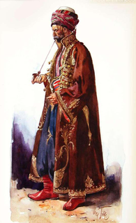 Kaftan long, coatlike garment, traditionally fastened at the waist with a sash
