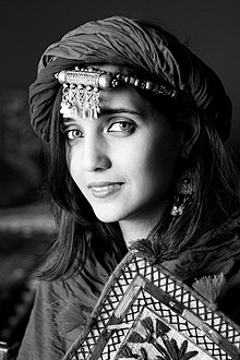 Portrait of woman in traditional dress algerian berber