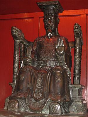 Lý Thánh Tông - A statue of emperor Lý Thánh Tông