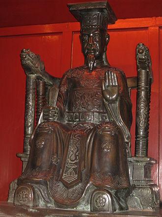 Lý dynasty - Statue of emperor Lý Thánh Tông.