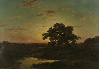 Heath Landscape at Sunset