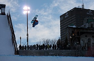 Mark McMorris - McMorris at a FIS World Cup event in Quebec City.