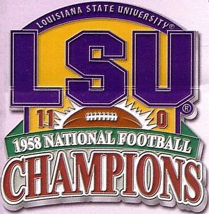 1958 LSU Tigers football team - Image: LSU1958logo