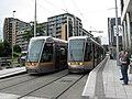 LUAS trams at Tallacht terminus. - geograph.org.uk - 1387090.jpg