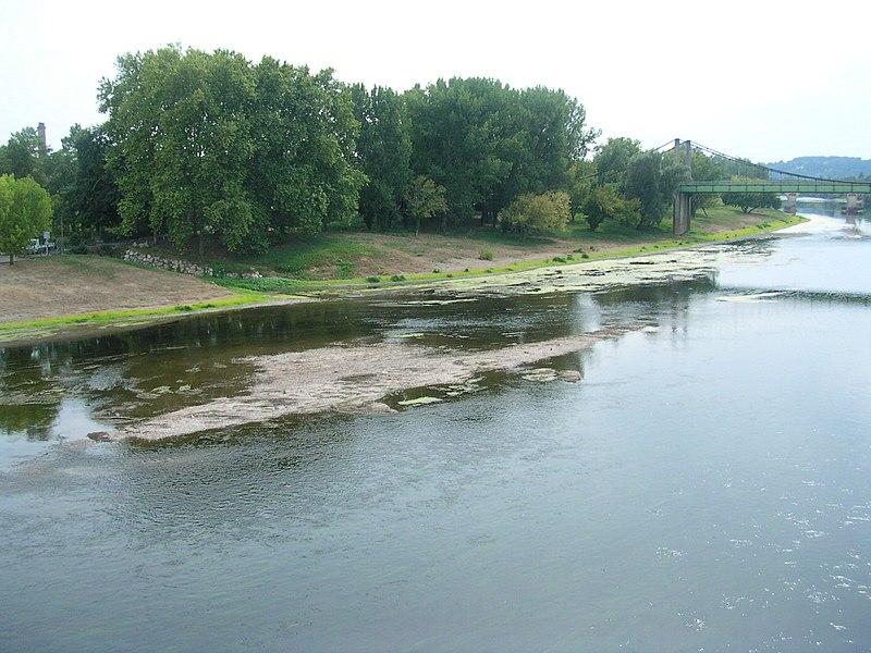 La Dordogne au plus bas. 6 septembre 2010