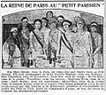 La Reine de Paris au Petit Parisien - Paris 1927.jpg