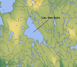Lac des Bois (Northwest Territories) - Map