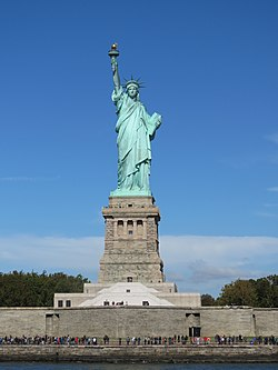 Lady Liberty under a blue sky.jpg