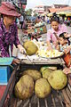 Lady selling jackfruit at Siem Reap.JPG