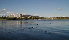 Danau Burley Griffin - View across west basin from Acton Peninsula
