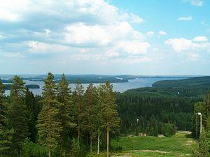 Heinävesi - Image: Lake Kermajärvi from Pääskyvuori