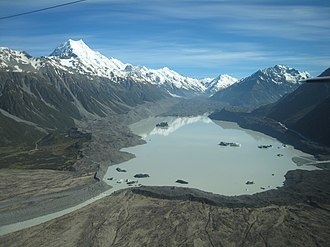 Tasman Lake - Image: Lake Tasman and Mount Cook 101 5770