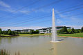 Lake and fountain in Solent Business Park - geograph.org.uk - 453220.jpg