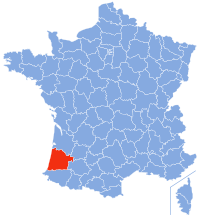 Location of Landes in France