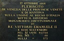 Lapide Plebiscito Veneto 1866