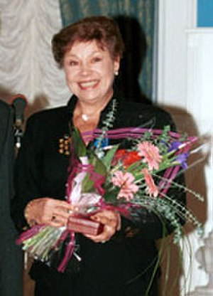 "Medal ""Veteran of Labour"" - Nine time Olympic gold medalist Larisa Latynina, a recipient of the Medal ""Veteran of Labour"""