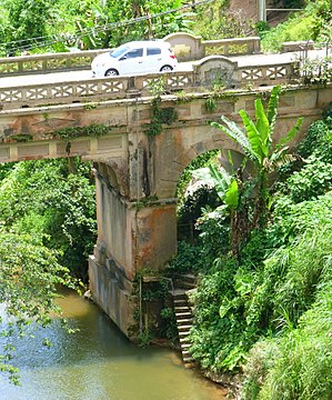 National Register of Historic Places listings in central Puerto Rico - Image: Las Cabanas Bridge 3 Adjuntas Puerto Rico