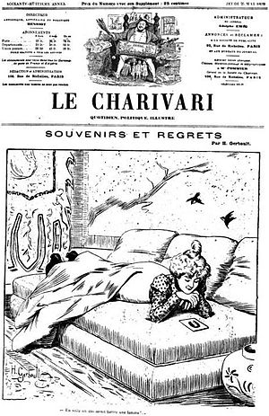 Le Charivari - Masthead of Le Charivari in 1833, during its second year of publication.