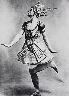 <i>Le Dieu bleu</i> ballet by Michel Fokine