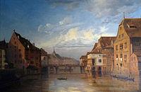 Le Pont du Corbeau et la Grande Boucherie-1841 (1)