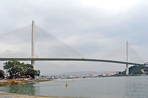 Bãi Cháy Bridge - Bai Chay Bridge's main span