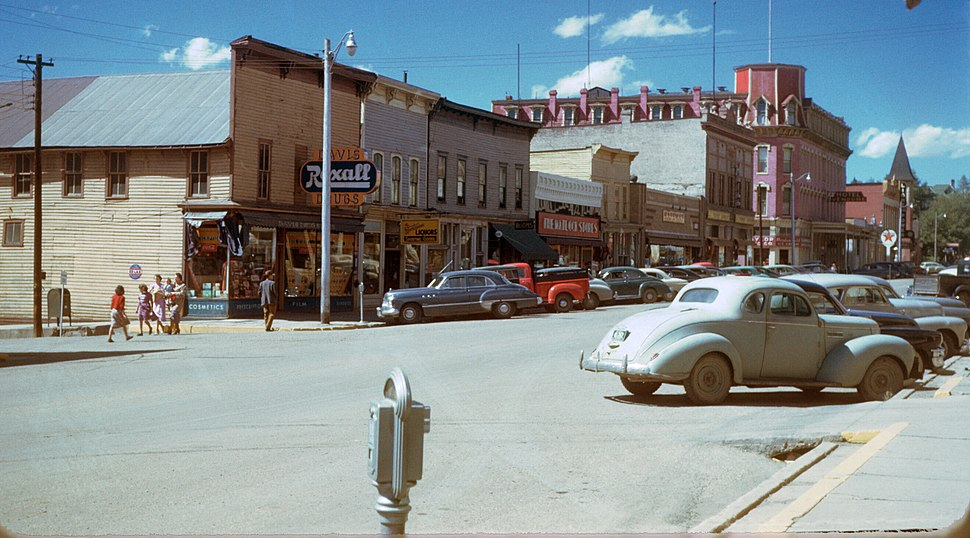 Leadville & the Hotel Vendome , Colorado , 1950s , Kodachrome by Chalmers Butterfield