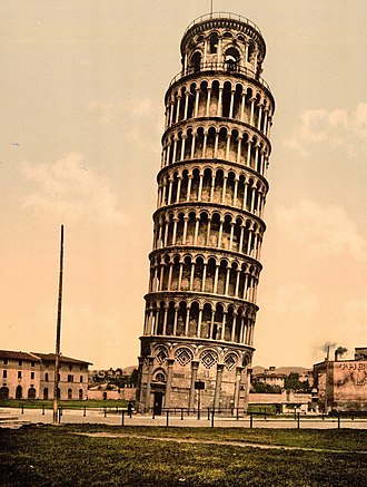 Leaning Tower of Pisa - Leaning Tower of Pisa in the 1890s