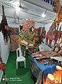 Leather puppet gallery at handloom show Vijayawada oct 2019 2.jpg