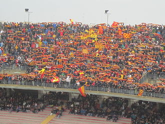 Stadio Via del Mare - Lecce supporters during a match against Roma, April 2012
