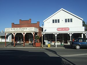 Leeston - Shops on the main street