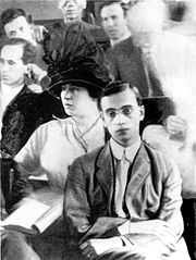 Lucille and Leo Frank at Frank's trial.