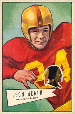 Leon Heath - Heath on a 1952 Bowman football card