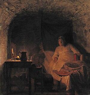 Leonora Christina Ulfeldt - Leonora Christina in prison, by Kristian Zahrtmann, 1875
