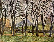 Les Marronniers du Jas de Bouffan en hiver, par Paul Cézanne, Yorck.jpg