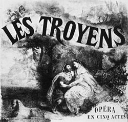 Les Troyens à Carthage 1863 poster by P Leray - Ian Kemp 1988 cover.jpg