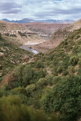 Lesotho Highlands - River Makhaleng River Gorges in the highlands