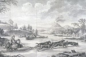 Barthélemy de Lesseps - Lesseps crossing the Kamchatka Peninsula by dog sled