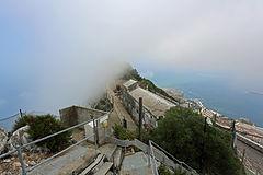 Levanter Cloud streaming over Spy Glass Battery, Upper Rock, Gibraltar